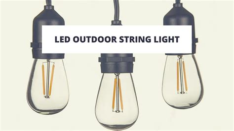 led patio string lights top 10 best led outdoor string lights in 2017 reviews
