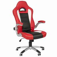 red desk chair Executive Office Chair PU Leather Racing Style Bucket Desk Seat Chair - Red | eBay