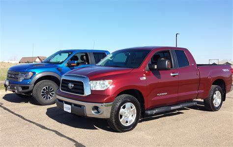 tundra truck tundra vs ford raptor two unique trucks go head to head