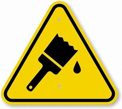 Wet Paint Warning Signs Symbol Hazard Sign
