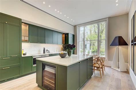 modern color splash gorgeously green kitchen cabinets