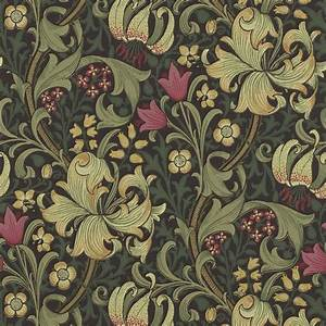 Morris Co : golden lily wallpaper charcoal olive 210403 william morris co archive wallpapers collection ~ Watch28wear.com Haus und Dekorationen