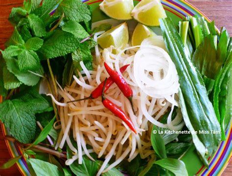 cuisine vietnamienne pho phở bò soupe pho au boeuf recette et
