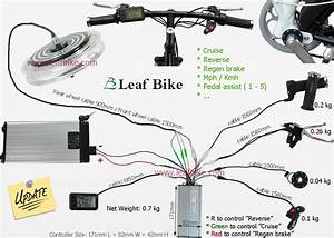 14 Inch 36v 750w Front Hub Motor Electric Bike Conversion Kit