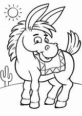 Donkey Coloring Pages Printable sketch template