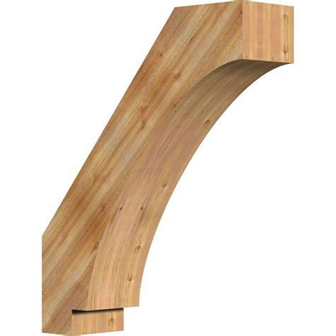 imperial cedar products ekena millwork 6 in x 26 in x 22 in western red cedar imperial rough sawn brace