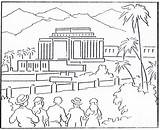 Coloring Temple Lds Building Hawaii Kirtland 1923 Mormon August History Temples Template sketch template