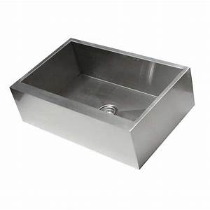 33 inch stainless steel flat front farm apron single bowl With 6 inch apron front sink