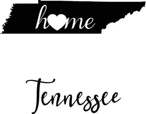 Tennessee svg cutting files   home sweet home, tennessee, love, s vg, dxf, cut graduation 2019 title free svg file clipart for cricut silhouette. Tennessee State Map digital file: SVG PNG Jpg eps Vector ...