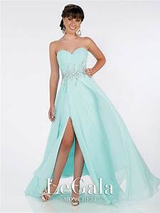 mon cheri le gala 116577 front open skirt prom dress With gala wedding dress