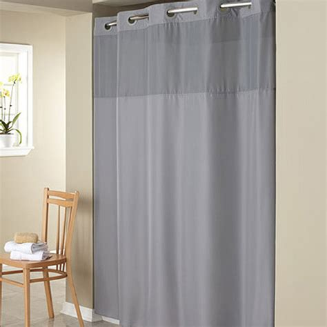 hookless shower curtain liner hookless gray mystery polyester shower curtain