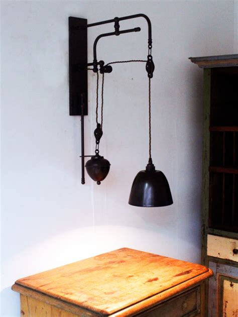 style pulley wall light chantelle lighting