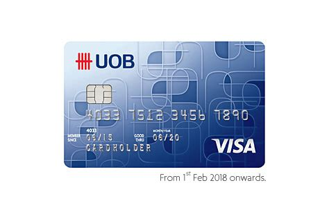 uob visa debit card