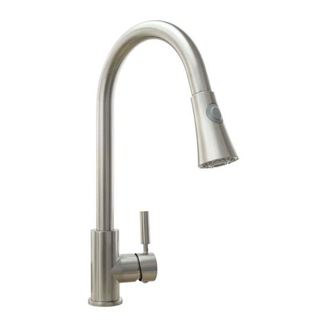 pull kitchen faucet brushed nickel cosmo single handle pull sprayer kitchen faucet with