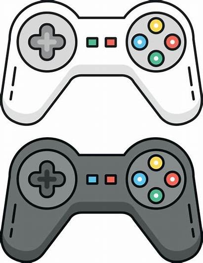 Vector Gamepad Playstation Clip Outline Controllers Illustration