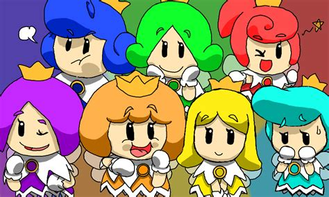 colors  supermariodworldsprixie princesses