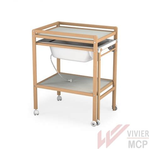 table langer baignoire coulissante table 224 langer avec baignoire coulissante vivier mcp