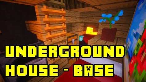minecraft simple underground basehouse tutorial  xbox