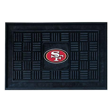 49ers doormat fanmats san francisco 49ers 18 in x 30 in door mat 11454