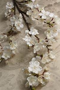 paper flower arrangement cherry blossom branch 42in white flowers