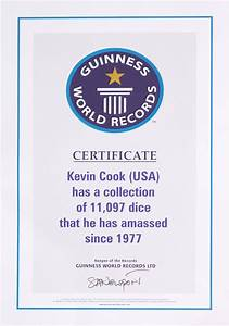 dicecollectorcom guinness claim information With guinness world record certificate template