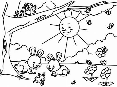 Spring Coloring Pages Printable Season
