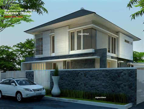 desain rumah sudut minimalis  lantai