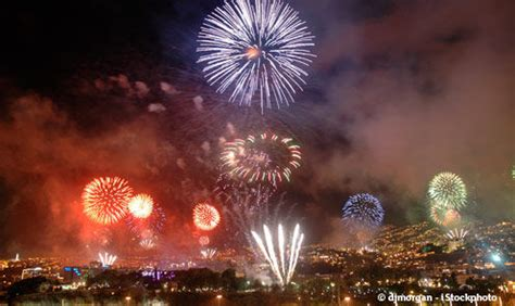 reveillon nouvel  funchal feux  artifice  club rando