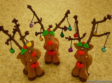 cute clay reindeer playing with clay pinterest