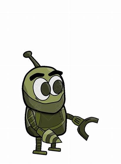 Cartoon Robot 2d Character Market