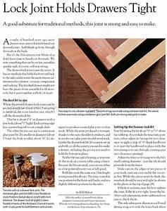 Drawer Lock Joint • WoodArchivist