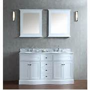 Double Sink Vanity Tops For Bathrooms by Ariel Bath SCMON60SWH Montauk 60 Double Sink Bathroom Vanity Set With 2 Mirro