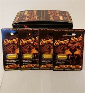 Strong Back Performance Power Longevity Male Enhancement Pill For Sale Online