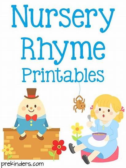 Nursery Rhyme Preschool Prekinders Rhymes Printable Printables