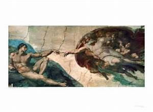 Creation of Adam Art Print by Michelangelo Buonarroti at ...