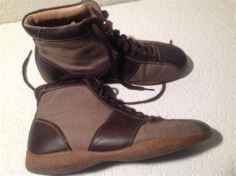coach brown mens monogram boots  sneakers size   tradesy
