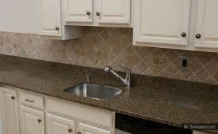 Kitchen Backsplash White Cabinets Brown Countertop