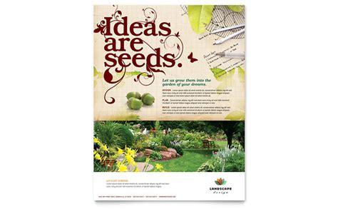 landscape design flyer template design