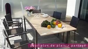Meuble De Jardin Carrefour : table chaises riverside le mobilier de jardin by carrefour collection 2015 youtube ~ Teatrodelosmanantiales.com Idées de Décoration