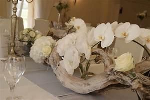 Bois Flotté Décoration : magnifique centre de table orchid e bois flott d co de ~ Melissatoandfro.com Idées de Décoration