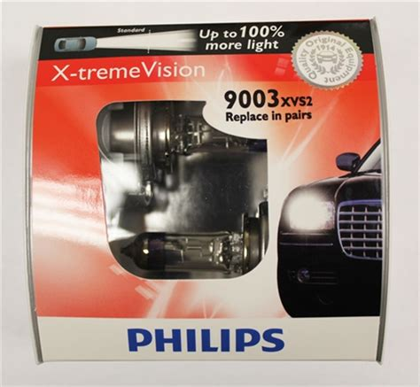 philips h4 hb2 9003 x treme vision 9003xvs2 bulbs