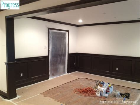 Painted Wainscoting by Renovation Rehab Let The Painting Commence