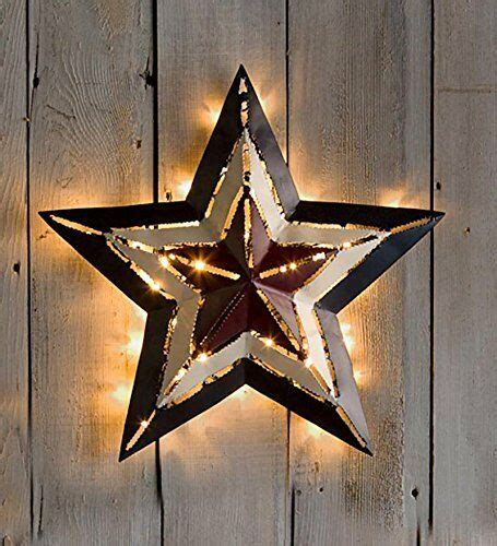 americana large metal star led lighted star indoor outdoor
