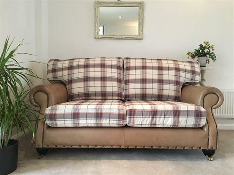 Settee Castors by Leather Fabric Chesterfield Club Style Sofa