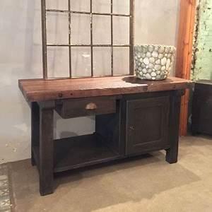 Mobilier Industriel Ancien : mobilier industriel ancien tabli en bois ~ Teatrodelosmanantiales.com Idées de Décoration