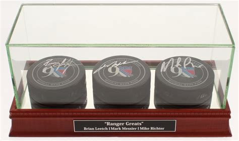 mark messier brian leetch mike richter signed  york