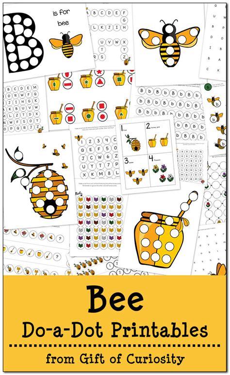 bee themed dot  dot printable  homeschool deals