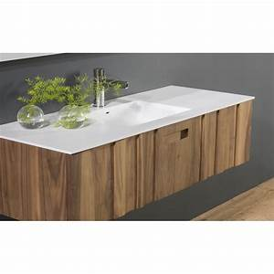 vente meuble de salle de bain en bois massif avec plan With plan vasque salle de bain 100 cm