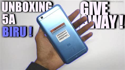 UNBOXING REDMI 5A BIRU dan GIVE AWAY 100k YouTube