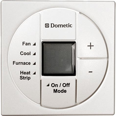 dometic 3313194 000 polar white single zone lcd cool furnace heat thermostat only